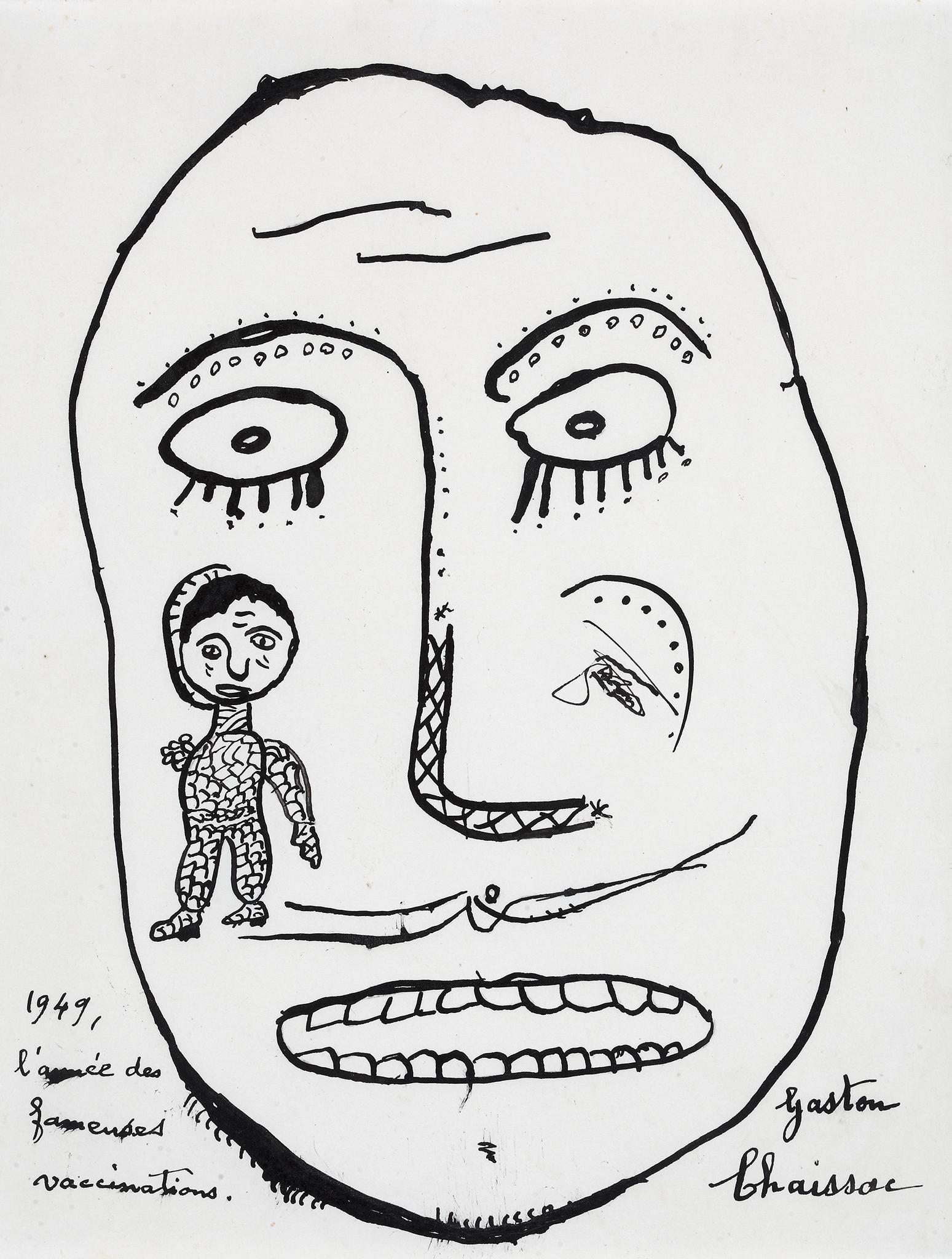 Gaston Chaissac, L'année des fameuses vaccinations, 1949