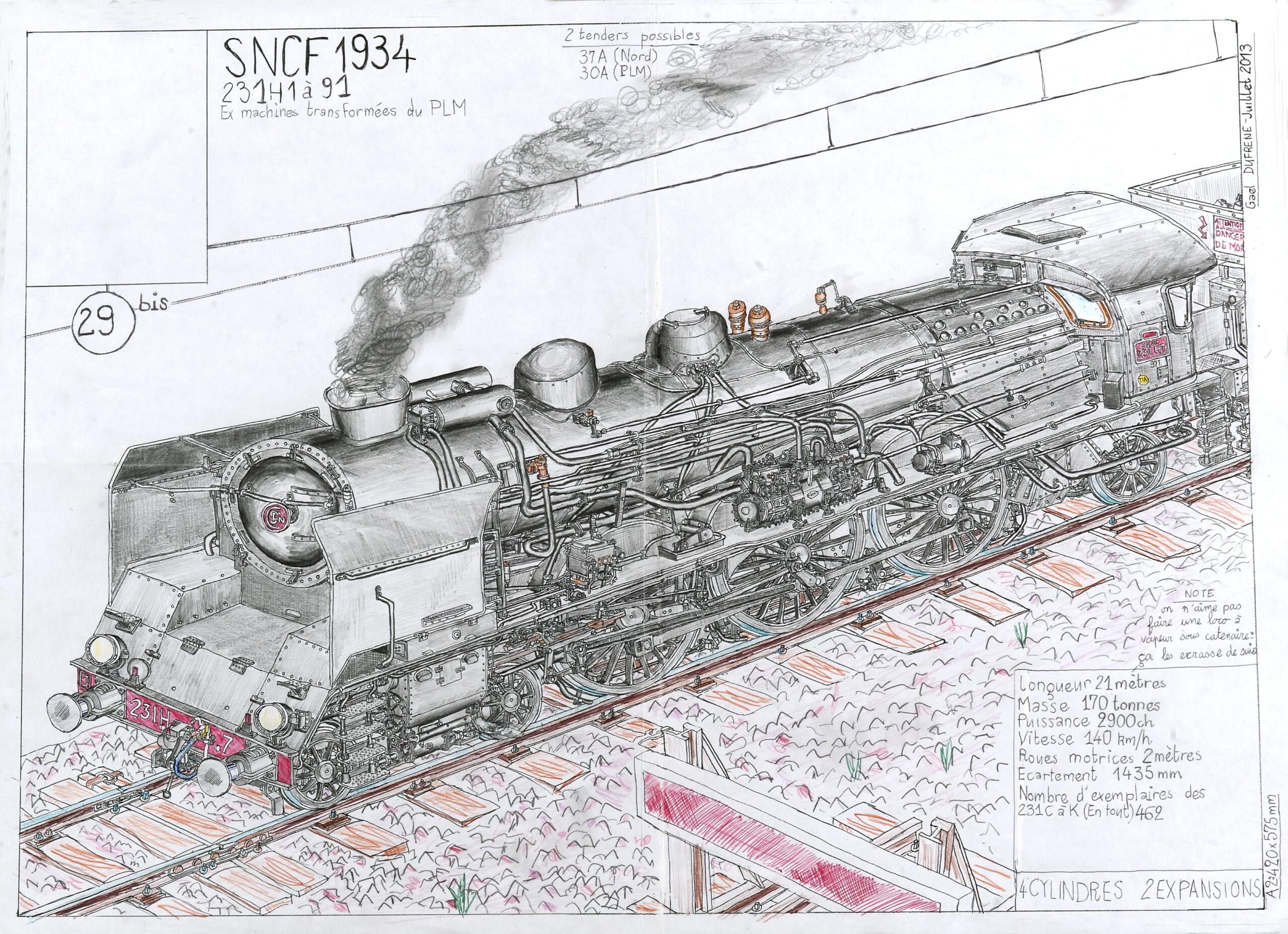 Gaël Dufrène, Locomotive 29bis 231H, 2013