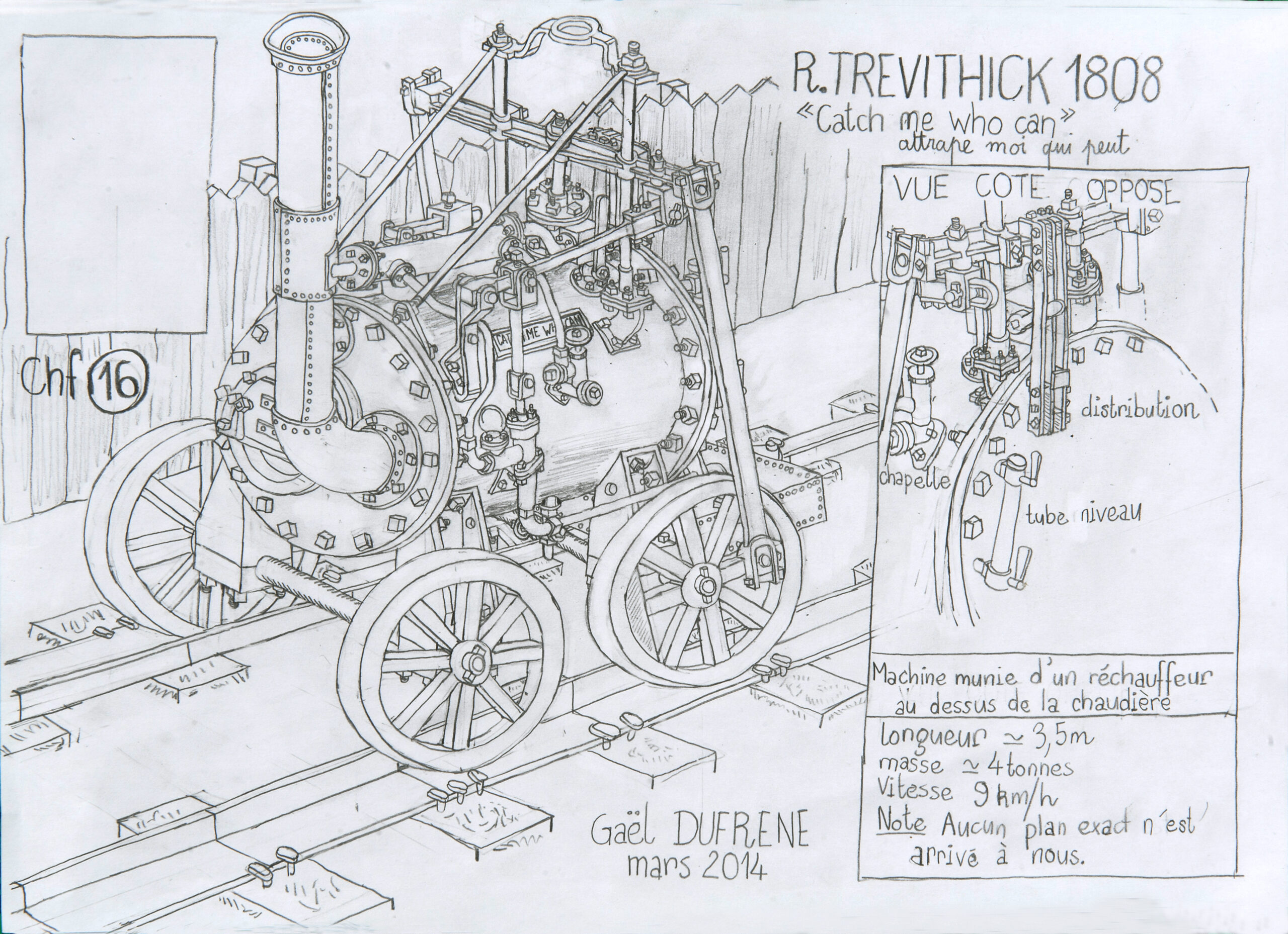 """Gaël Dufrène, R. Trevithick 1808 """"Catch me who can"""", 2014"""
